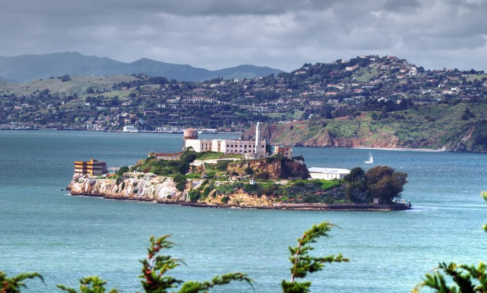 Alcatraz, a prison on an island in San Francisco Bay that has been closed since 1963.